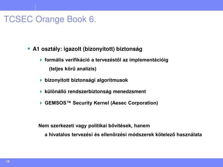 TCSEC Orange Book 6.