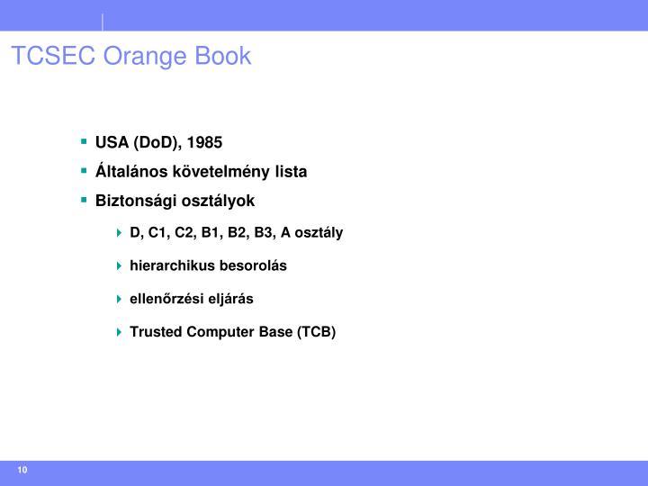 TCSEC Orange Book