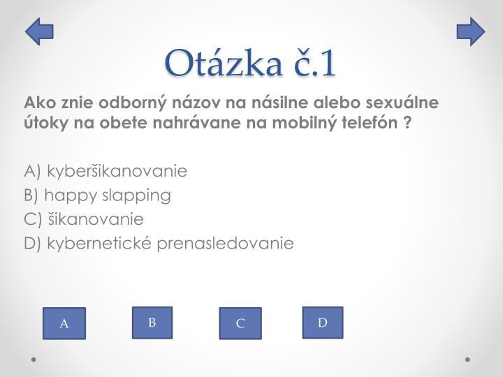 Otázka č.1