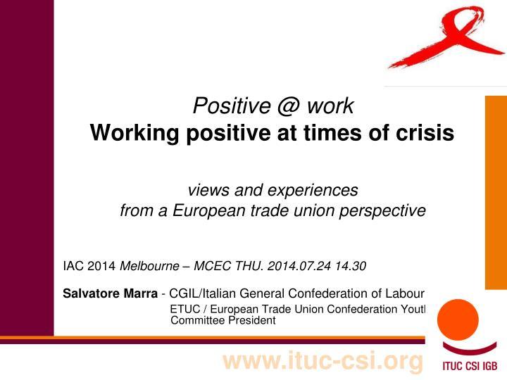 Positive @ work