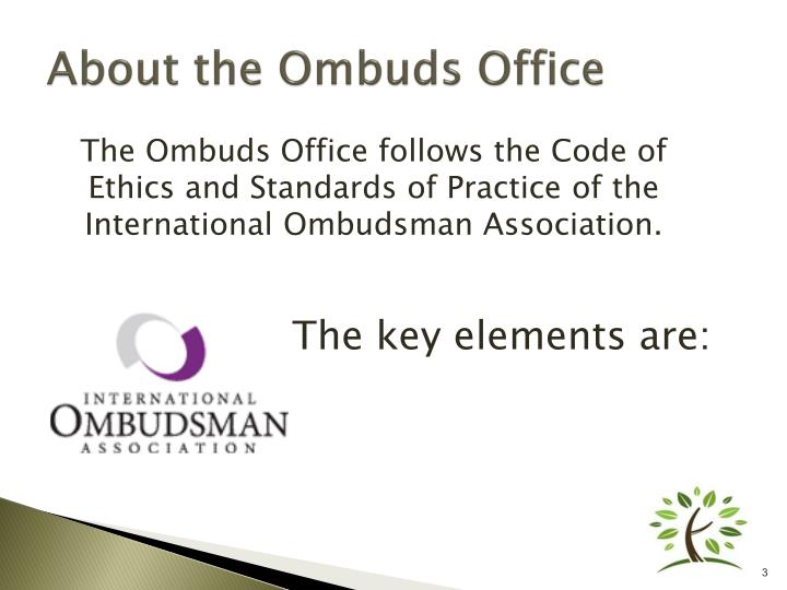About the ombuds office