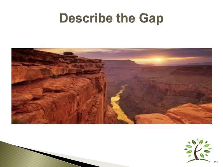Describe the Gap
