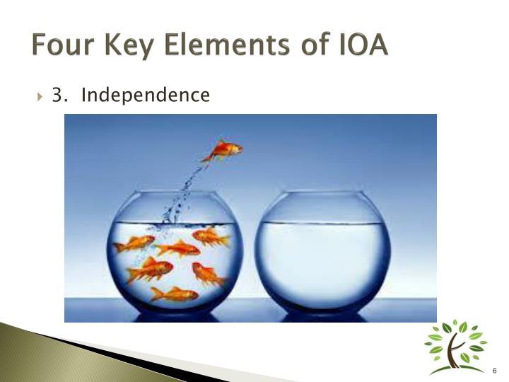 Four Key Elements of IOA