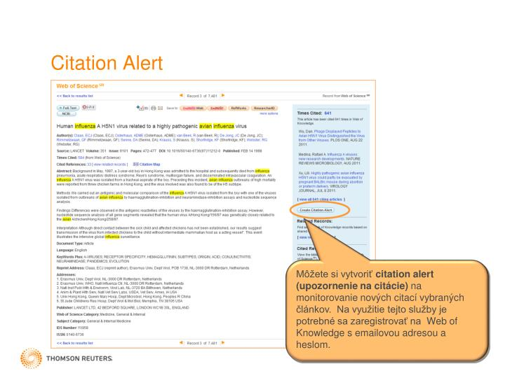 Citation Alert