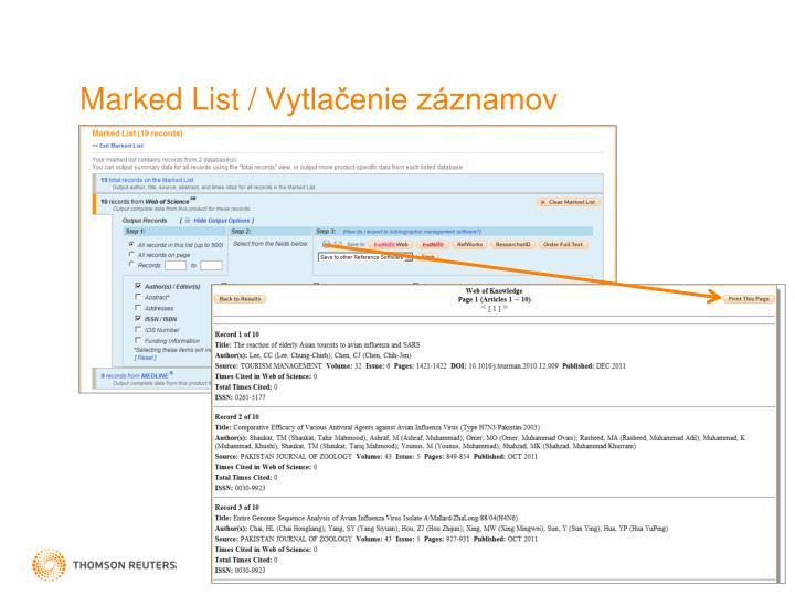 Marked List /