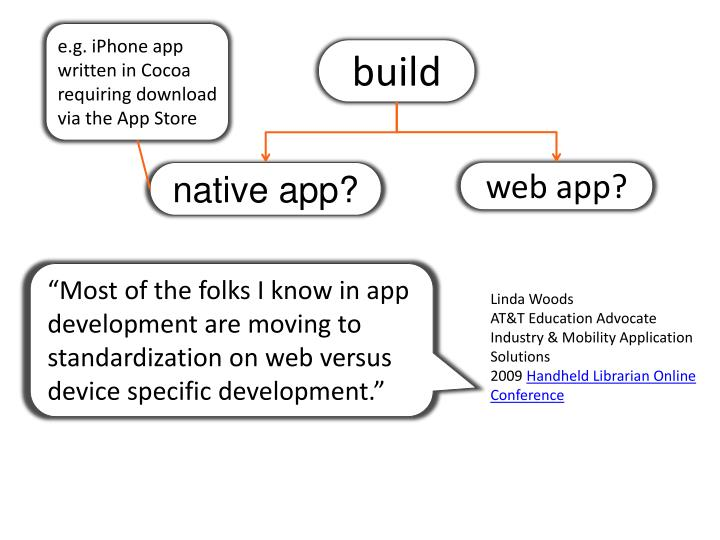 e.g. iPhone app