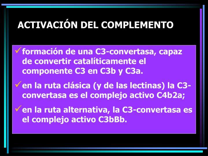 ACTIVACIÓN DEL COMPLEMENTO