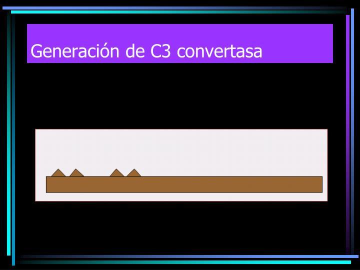 Generación de C3 convertasa