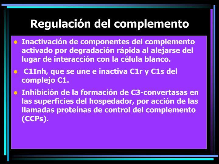 Regulación del complemento