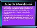 regulaci n del complemento