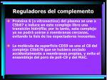 reguladores del complemento