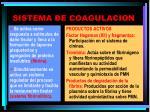 sistema de coagulacion