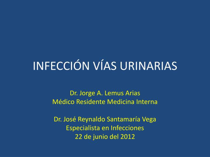 Infecci n v as urinarias