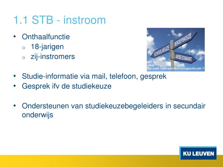 1.1 STB - instroom