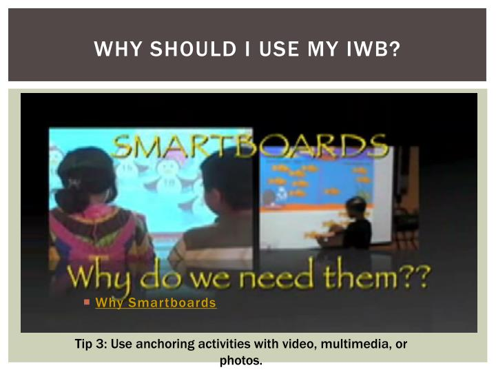 Why Smartboards