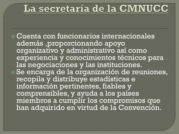 La secretaría de la CMNUCC