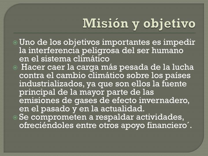 Misión y objetivo