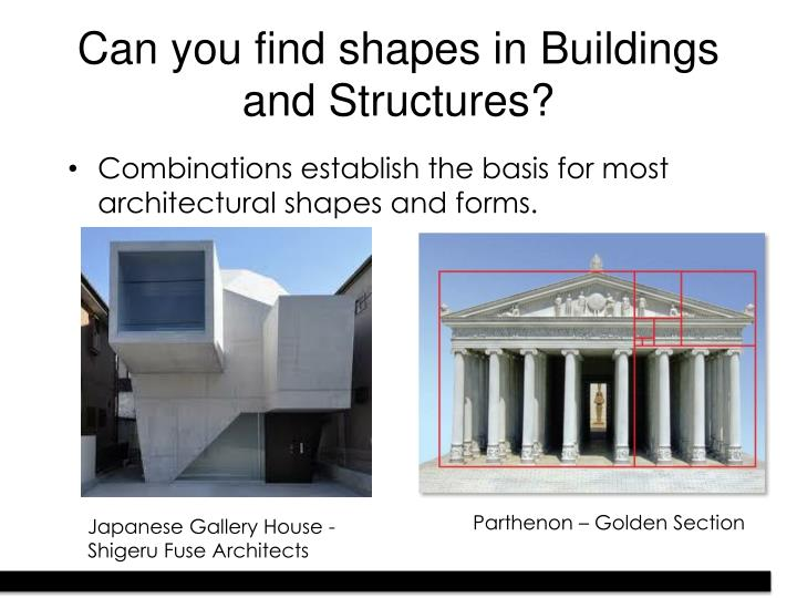 Can you find shapes in Buildings and Structures?