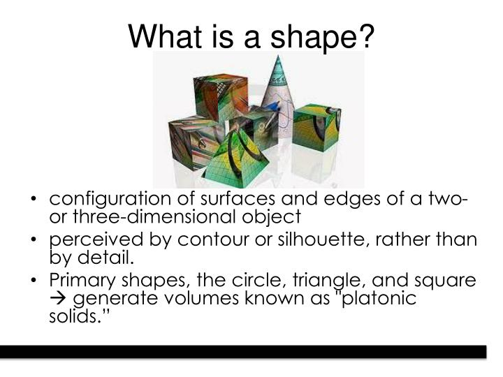 What is a shape?