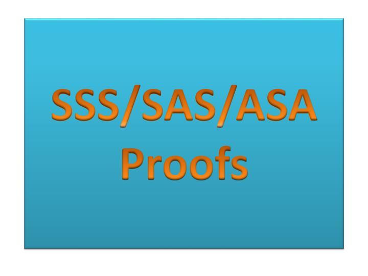 SSS/SAS/ASA
