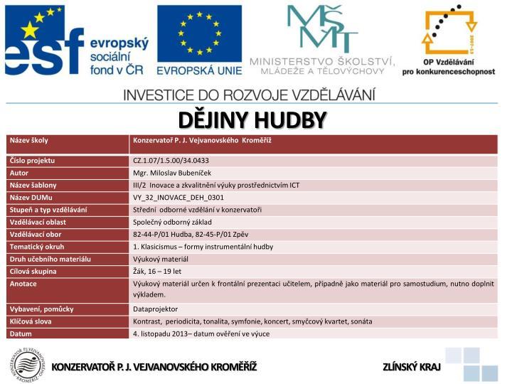 Djiny HUDBY