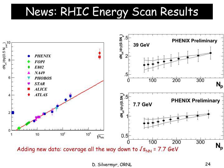 News: RHIC Energy