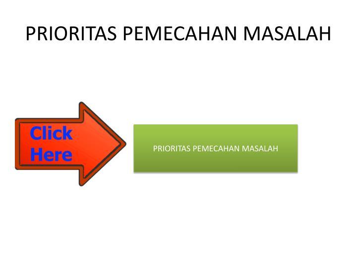 PRIORITAS PEMECAHAN MASALAH