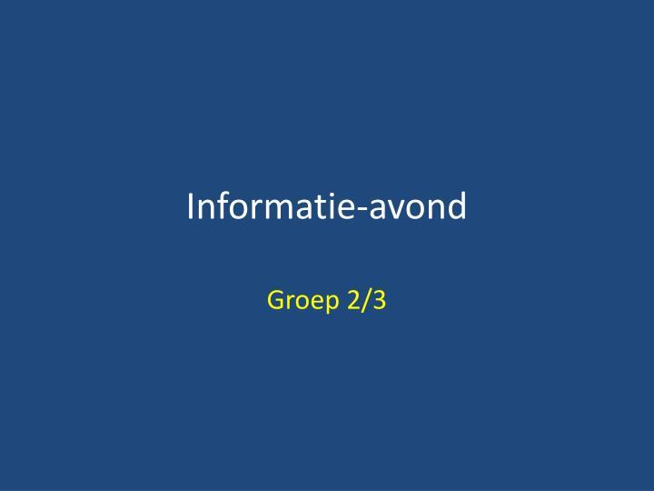 Informatie-avond