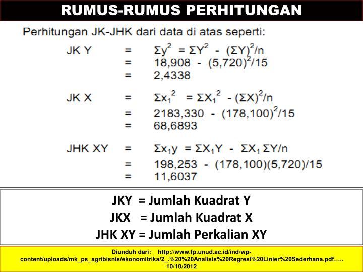 RUMUS-RUMUS PERHITUNGAN