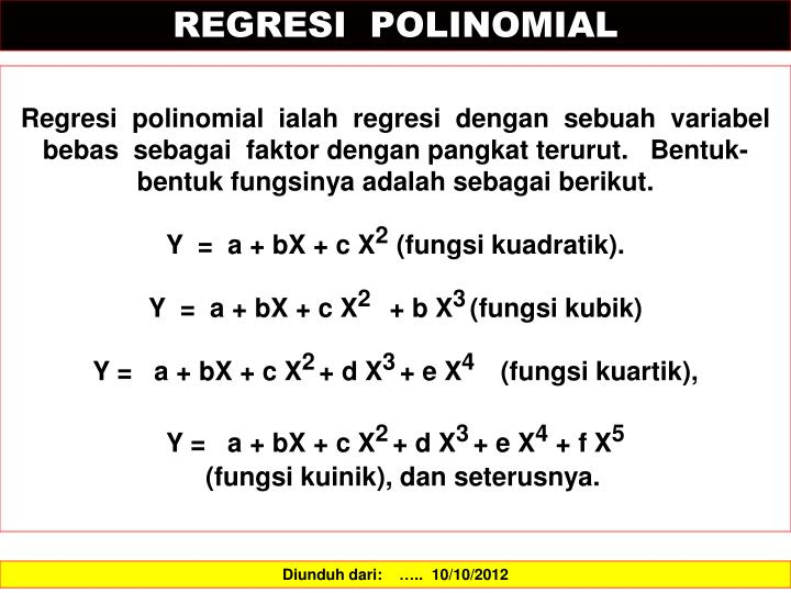 REGRESI  POLINOMIAL