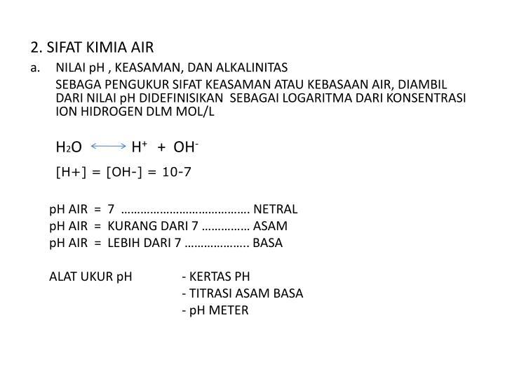 2. SIFAT KIMIA AIR