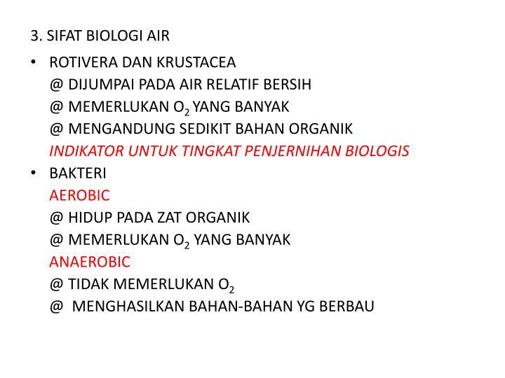 3. SIFAT BIOLOGI AIR