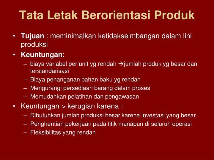 Tata Letak Berorientasi Produk