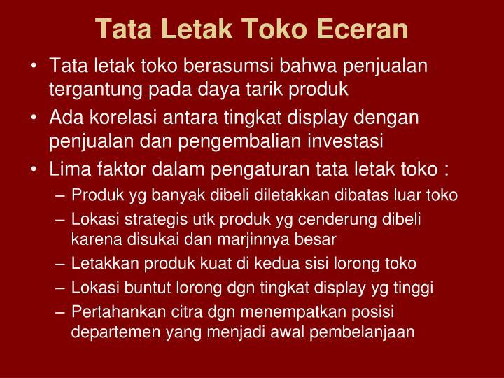 Tata Letak Toko Eceran