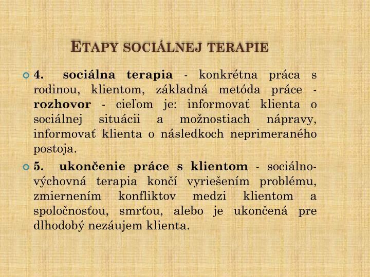 Etapy sociálnej terapie