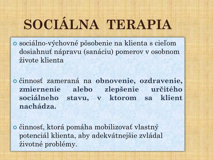 SOCIÁLNA  TERAPIA
