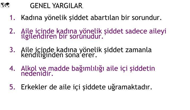 GENEL YARGILAR