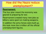 how did the nazis reduce unemployment2