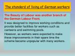 the standard of living of german workers2