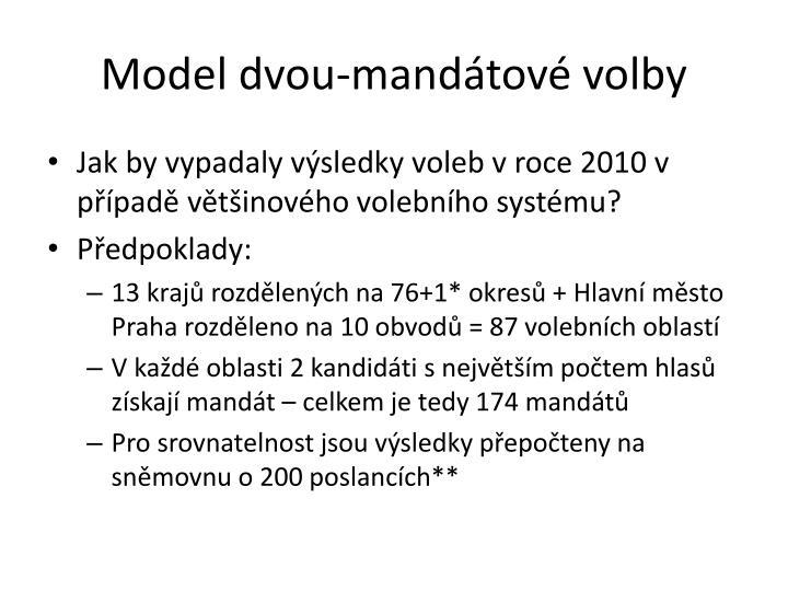 Model dvou-mandátové volby