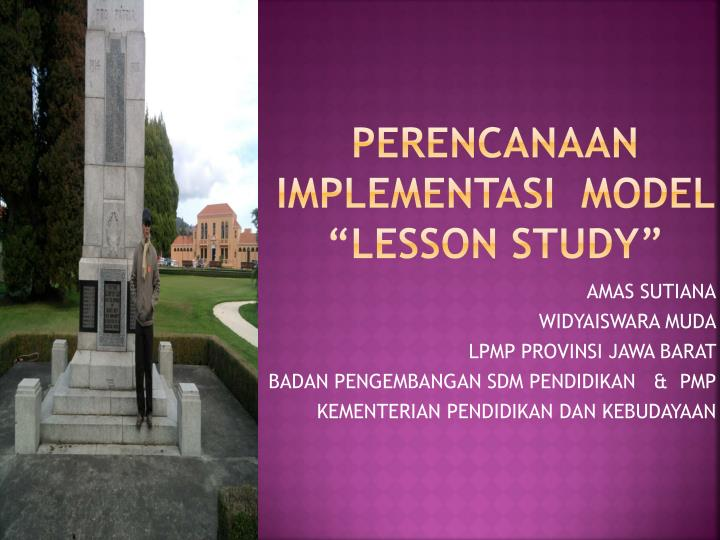 Perencanaan implementasi model lesson study