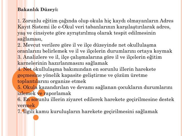 Bakanlk Dzeyi:
