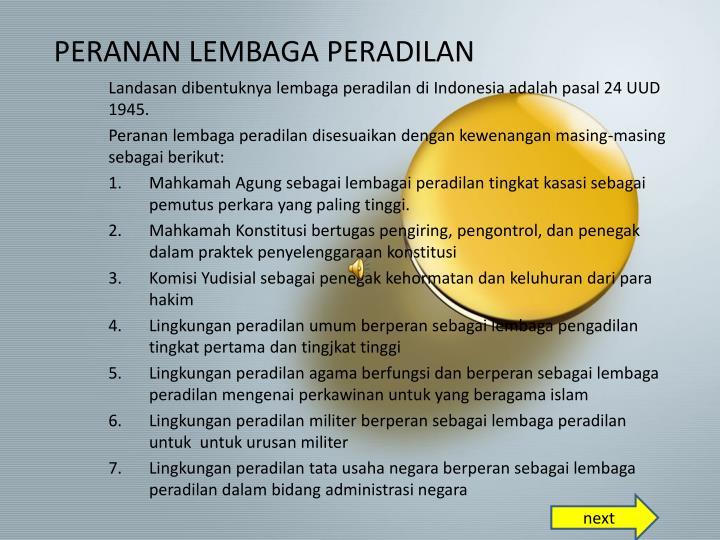 PPT - SISTEM HUKUM DAN PERADILAN NASIONAL PowerPoint ...