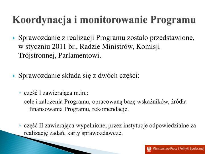 Koordynacja i monitorowanie Programu