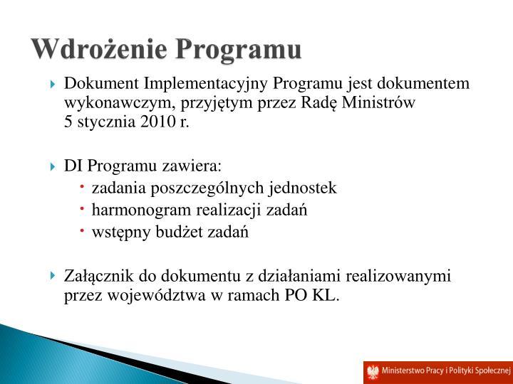 Wdrożenie Programu