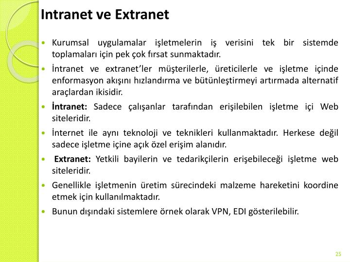 Intranet ve