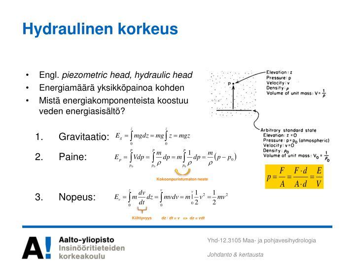 Hydraulinen