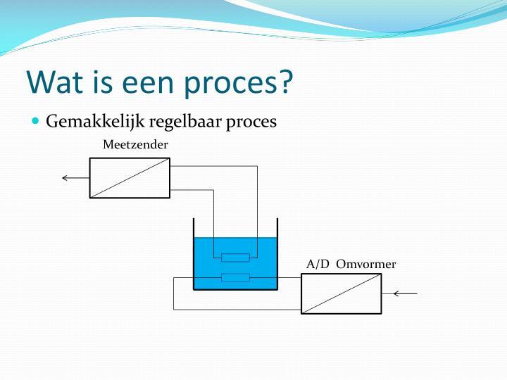 Wat is een proces?