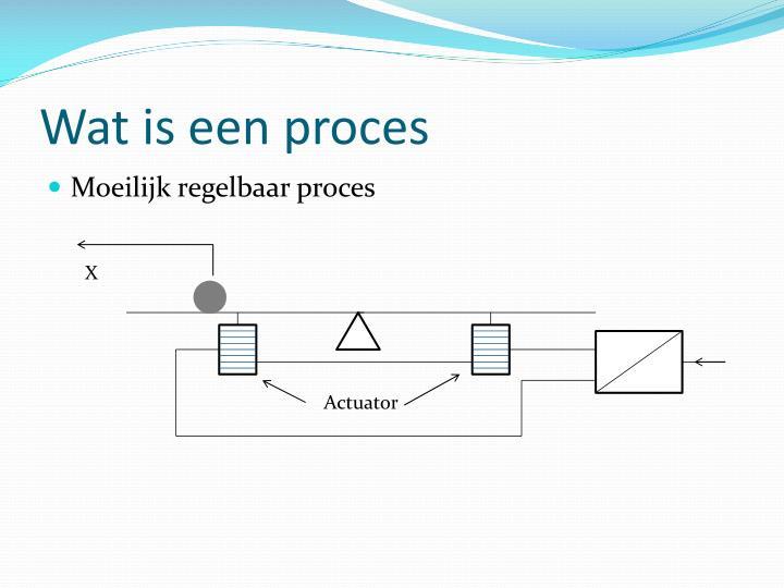 Wat is een proces