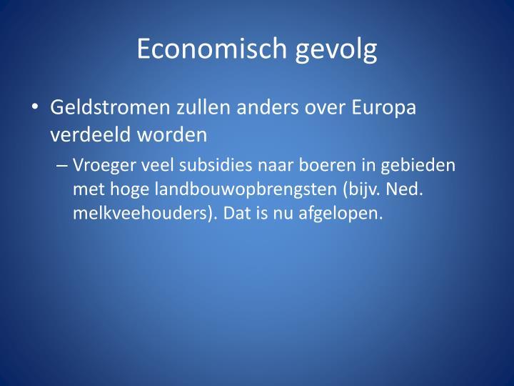Economisch gevolg
